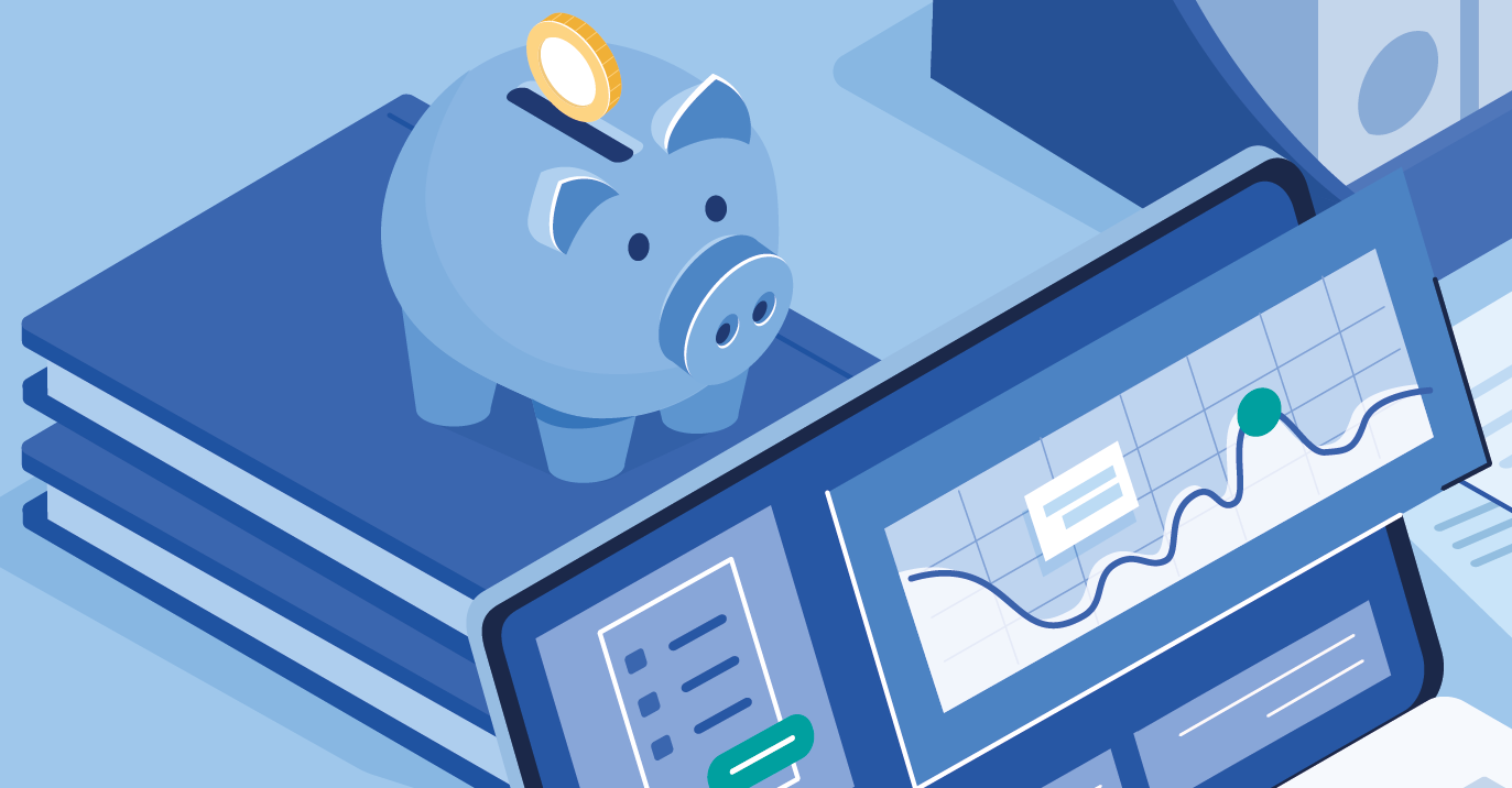 Illustration of piggy bank for Kirk HIlls individual accountancy services page